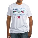 Abolish Wildlife Services Fitted T-Shirt