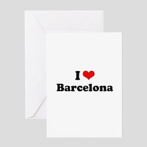 I love Barcelona Greeting Card