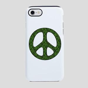 Green Leaf Peace Sign iPhone 8/7 Tough Case