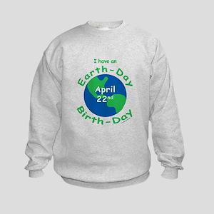 Earth Day Birthday Kids Sweatshirt