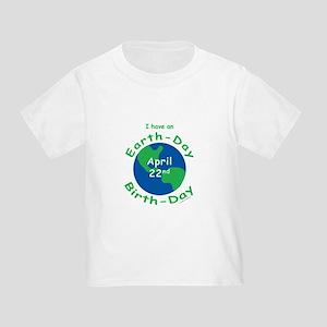 Earth Day Birthday Toddler T-Shirt