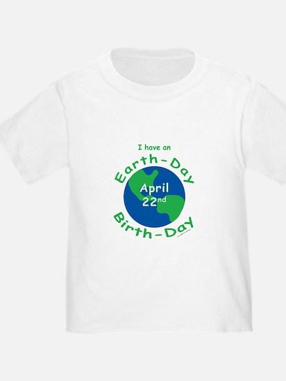 Earth Day Birthday T