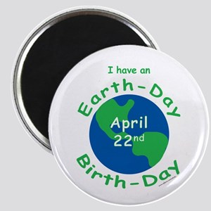 Earth Day Birthday Magnet
