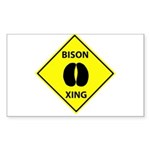 Bison Crossing Rectangle Sticker 50 pk)