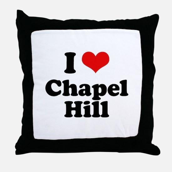 I Love Chapel Hill Throw Pillow