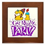 21st Birthday Party Favors! Framed Tile