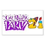 21st Birthday Party Favors! Rectangle Sticker 10
