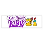 21st Birthday Party Favors! Bumper Sticker (10 pk)