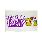 21st Birthday Party Favors! Rectangle Magnet (100