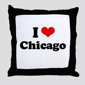I love Chicago Throw Pillow