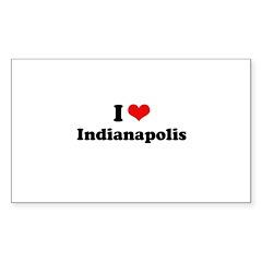 I love Indianapolis Rectangle Sticker 10 pk)