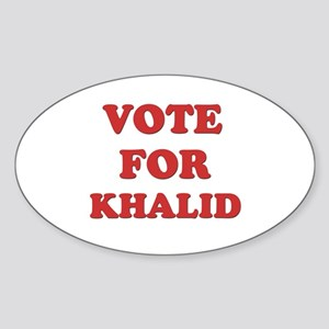 Vote for KHALID Oval Sticker