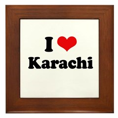 I love Karachi Framed Tile