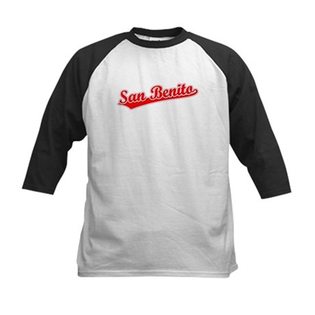 Retro San Benito (Red) Kids Baseball Jersey