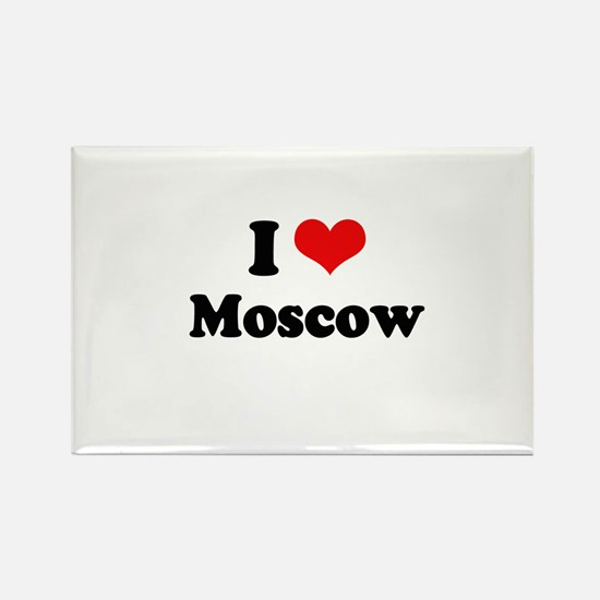 I love Moscow Rectangle Magnet
