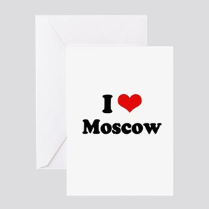 I love Moscow Greeting Card