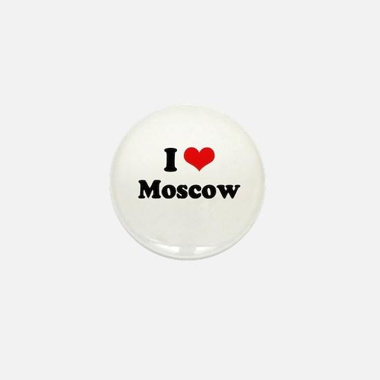 I love Moscow Mini Button