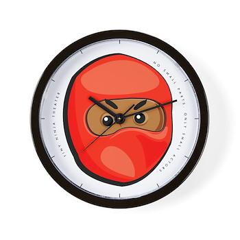 Ninja Head Wall Clock