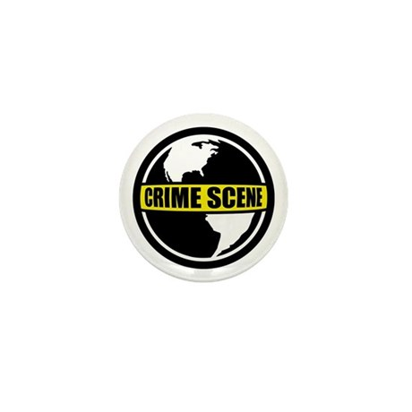 Crime Scene Mini Button (10 pack)
