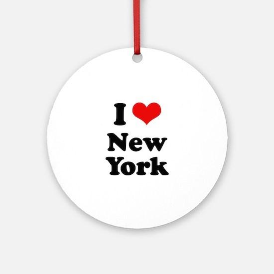 I love New York Ornament (Round)