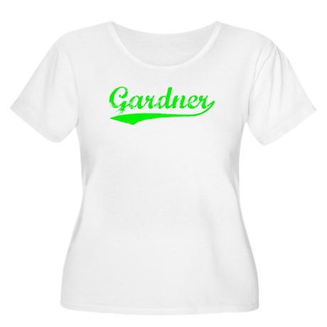 Vintage Gardner (Green) Women's Plus Size Scoop Ne