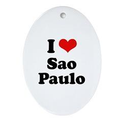 I love Sao Paulo Oval Ornament