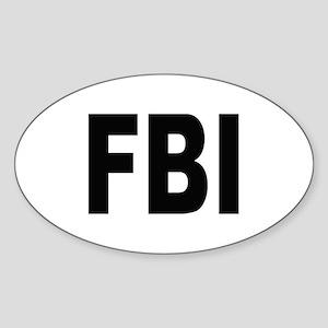 FBI Federal Bureau of Investigation Oval Sticker