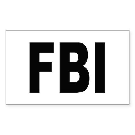 FBI Federal Bureau of Investigation Sticker (Recta