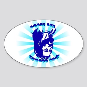 Keg Stands For Jesus Oval Sticker