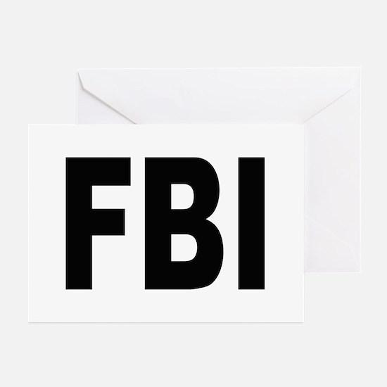FBI Federal Bureau of Investigation Greeting Cards
