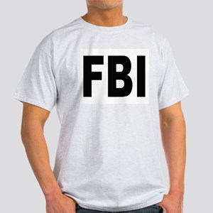 FBI (Front) Ash Grey T-Shirt
