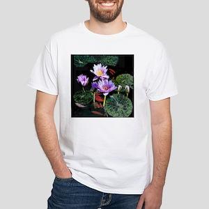 Water Lilies white short-sleeve T-shirt