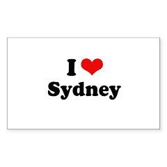 I love Sydney Rectangle Sticker 50 pk)