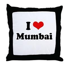 I love Mumbai Throw Pillow