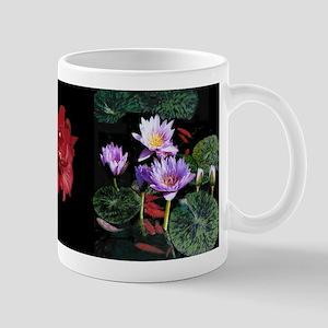 Water Lilies / Amaryllis small mug (black band)