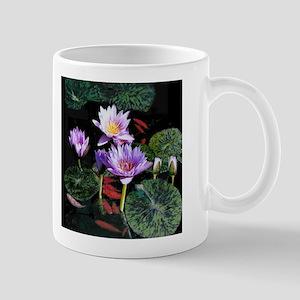 Water Lilies and Goldfish small mug