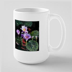 Water Lilies and Goldfish large mug