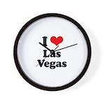I love Las Vegas Wall Clock