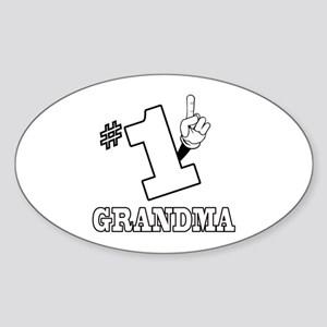 #1 - GRANDMA Oval Sticker