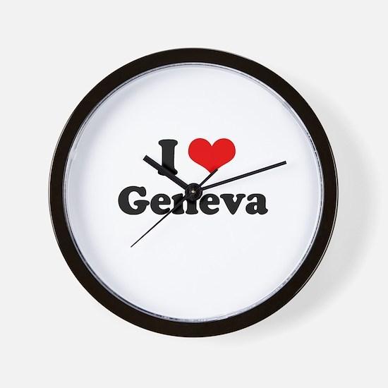 I love Geneva Wall Clock