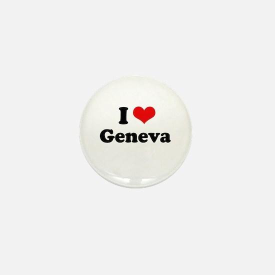 I love Geneva Mini Button