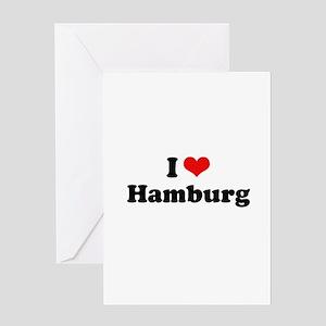 I love Hamburg Greeting Card