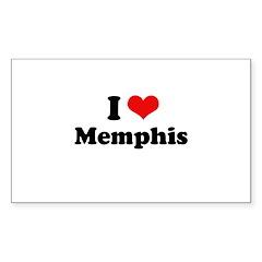 I love Memphis Rectangle Sticker 10 pk)