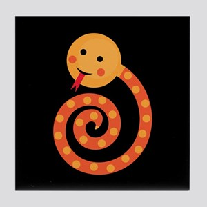Orange Snake Tile Coaster