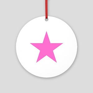 Pink Star Ornament (Round)