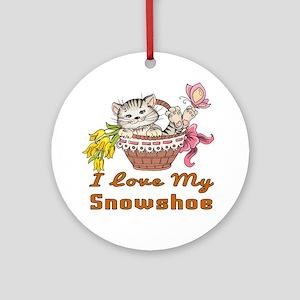 I Love My Snowshoe Designs Round Ornament
