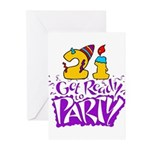 21st Birthday Party Invitations, Pack of 10!