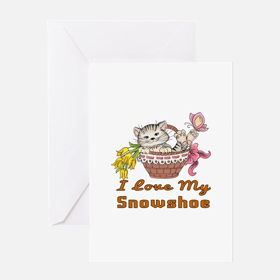 I Love My Snowshoe Designs Greeting Card