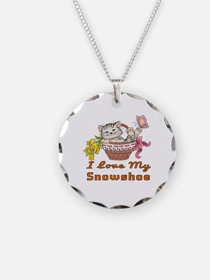 I Love My Snowshoe Designs Necklace