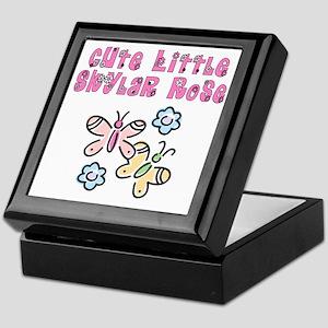 Cute Little Skylar Rose Keepsake Box